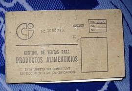 Cuban rationbook